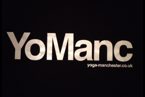YoManc t-shirt Yoga Manchester close up