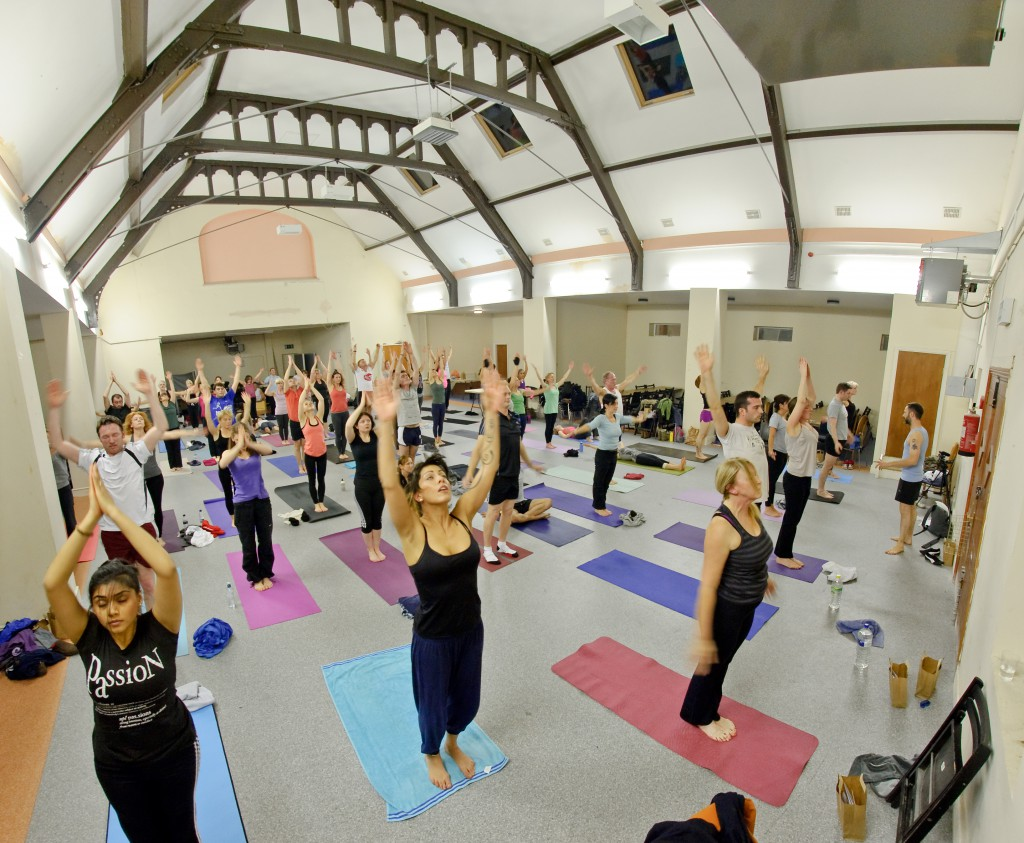thumbnail image for Yoga Manchester People-light on our students