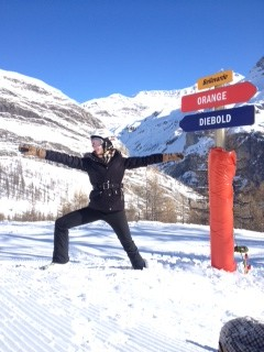 Jane Hand, Warrior 2, Val D'Isere-style