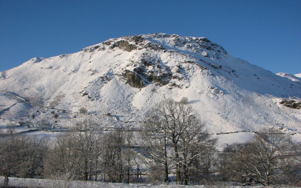 Helm Crage viewed from Broadrayne Farm