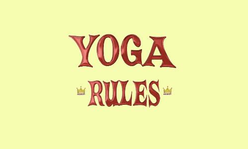 thumbnail image for Yoga Rules : A rough guide to the yamas and niyamas