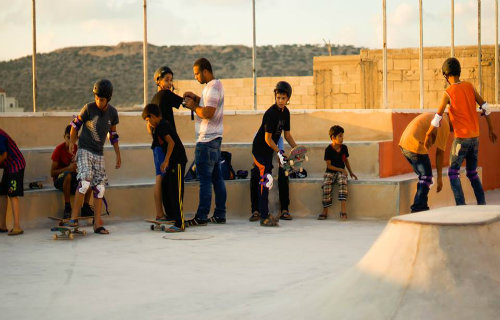 thumbnail image for Skateboarding in Palestine