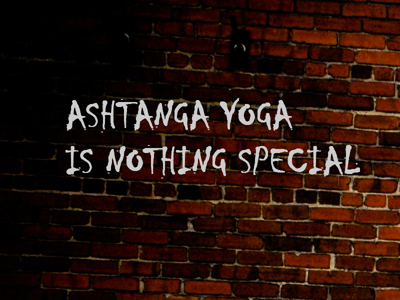 thumbnail image for Ashtanga Yoga is Nothing Special (and neither are YOU) by Matt Ryan.